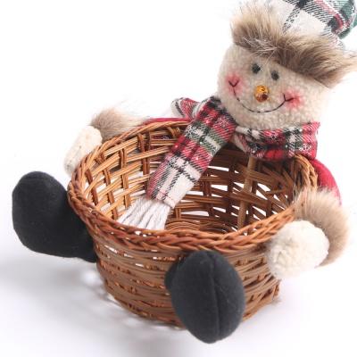 크리스마스 사탕바구니 (눈사람)