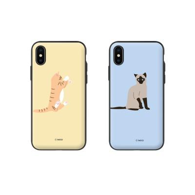 [애플/아이폰] 마이캣 마그네틱 자석 도어 범퍼케이스