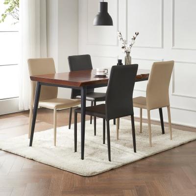 브리엔 원목 철제 식탁 세트A 1800 + 의자 4개포함