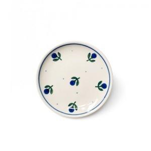 [폴란드그릇 AT]블루베리 컵받침/소서