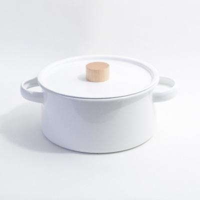 일본 카이코 Kaico 법랑 양수냄비 K-010