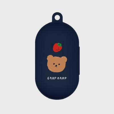 Dot strawberry bear-navy(buds jelly case)