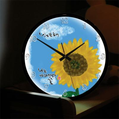 ng378-LED시계액자35R_바라만보는꽃