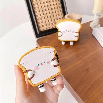 에어팟 1/2/프로 미니식빵 캐릭터 커플 실리콘 케이스