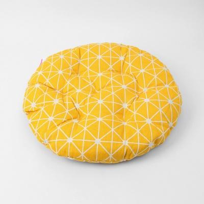 쿠지 다이아몬드 원형방석/ 옐로우 쿠션방석