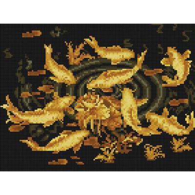 황금잉어 (캔버스형) 보석십자수 30x40