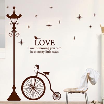 ijs595-클래식 가로등과 자전거