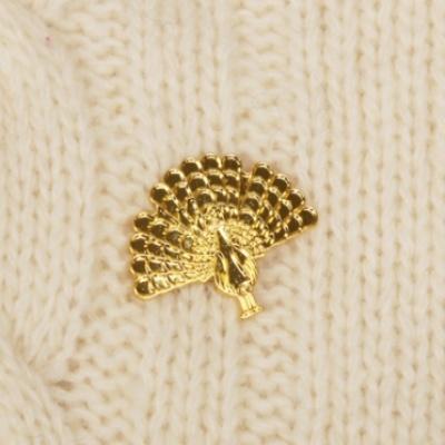 [pinpinpin] 황금 공작 핀