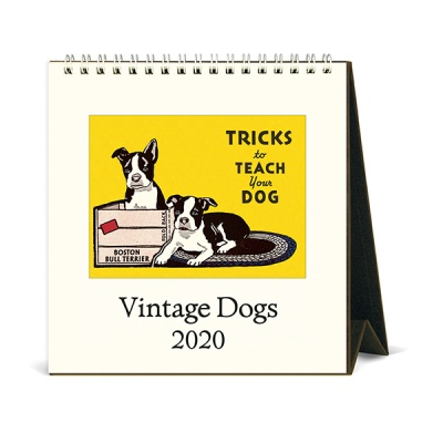 2020 카발리니 탁상캘린더 Vintage Dogs