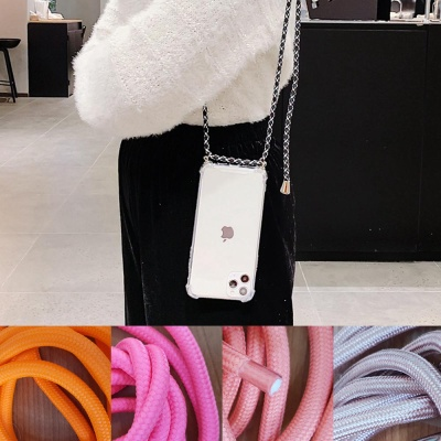갤럭시S10E 핸드폰목걸이 줄 스트랩 투명 젤리 케이스