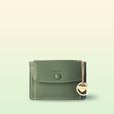 [이니셜 커스텀] Big pocket point wallet _ Khaki