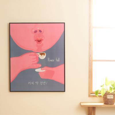 카페뮤제오 포스터 커피 딱 한잔 by 이철민 작가