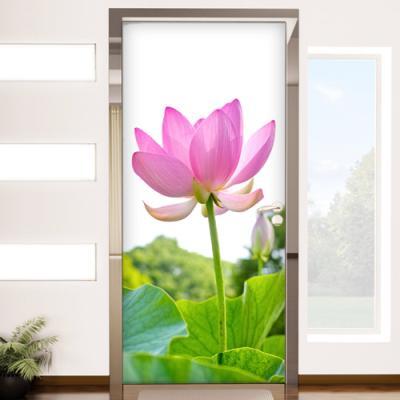 ii867-행복을부르는연꽃_현관문시트지