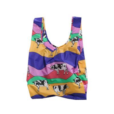 [바쿠백] 휴대용 장바구니 Grazing Cows