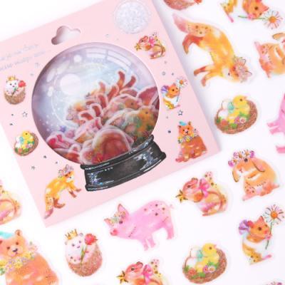 [금박] 동화속 동물친구 요술램프 스티커팩