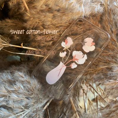 '누군가의 꽃' 스위트 코튼플라워 실리콘 케이스