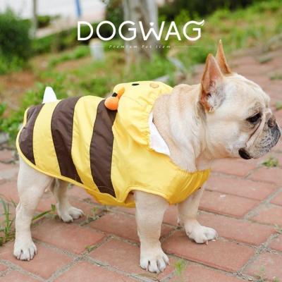 꿀벌 강아지 우비 애견 산책 비옷