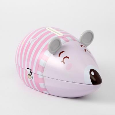 양철 쥐 저금통(핑크)