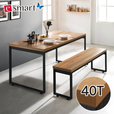스틸헤비 4인용 식탁세트1400x600 (사각다리)