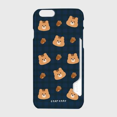 Check squirrel acorns-navy(카드수납케이스)