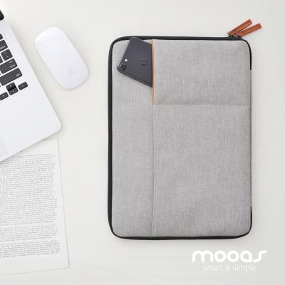무아스_노트북 슬리브 파우치 듀얼포켓 15인치 통용