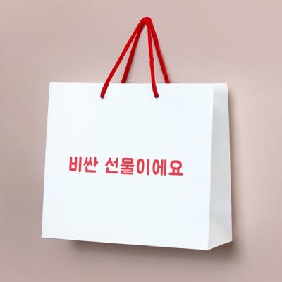 취급주의 쇼핑백