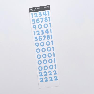 러브미모어빅 숫자 블루 씰스티커
