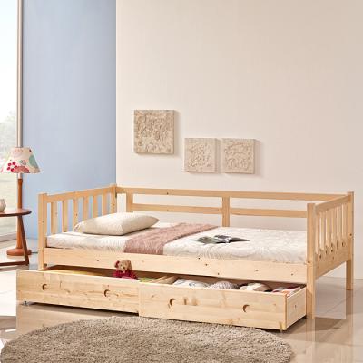 인터데코 소나무 원목 서랍형 데이베드 침대소파 슬림포켓매트포함 SS C01