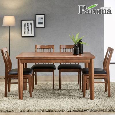 파로마 우든 4인용 원목 식탁세트 의자형 CR08