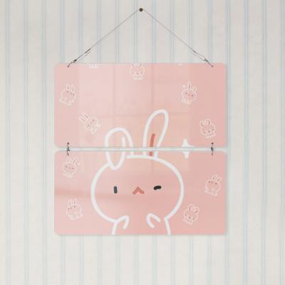 nk879-멀티아크릴액자_귀여운병아리와토끼(2단)