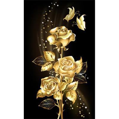 황금장미 골드 (패브릭) 5D 보석십자수 30x50