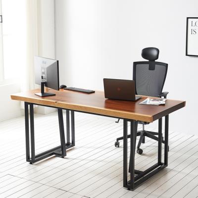 코디 1800x600 우드슬랩 책상 원목 테이블
