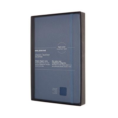 몰스킨 [19클래식 레더 노트]룰드/블루 하드 L