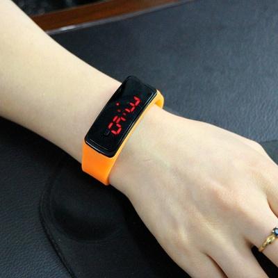 LED 심플 실리콘 손목시계