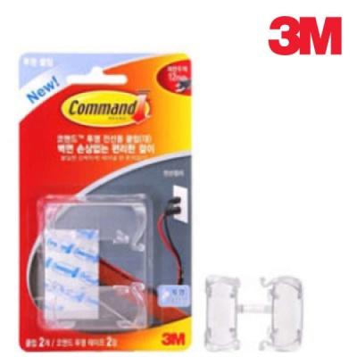 3M 17303 코맨드 투명 전선용 클립(대)