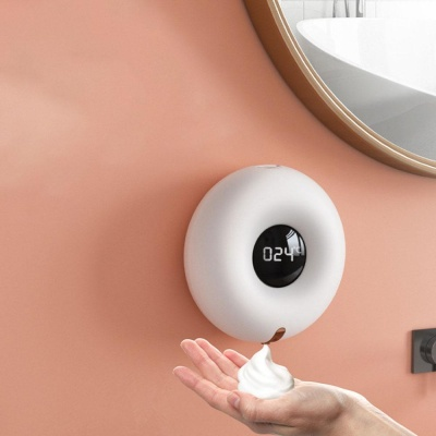 벽걸이형 충전식 자동센서 핸드워시 디스펜서 온도계