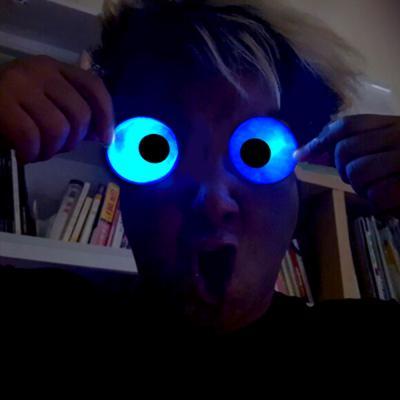 야광 눈장식 스티커 세트 (놀란눈)
