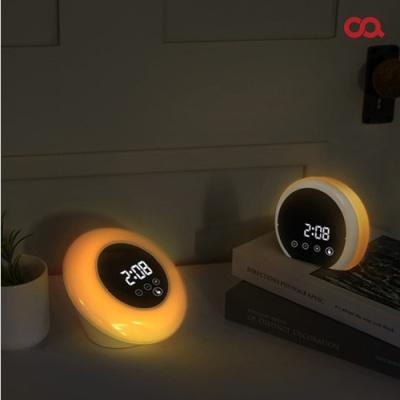 오아 무드미러클 디지털 LED 탁상시계 거울 무드등