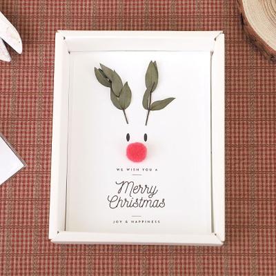 루돌프 크리스마스 드라이플라워 카드-파블로