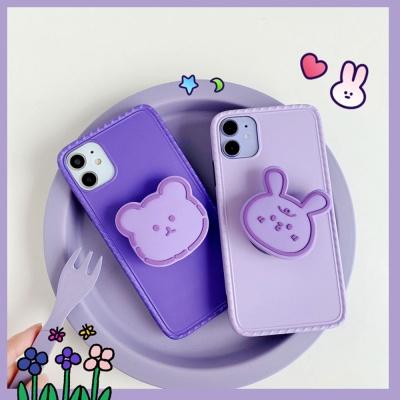 아이폰se2 11 pro max 곰 토끼 그립톡 실리콘 케이스
