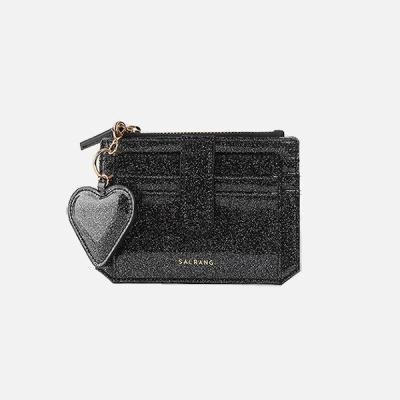 301S Flap mini Card Wallet black pearl