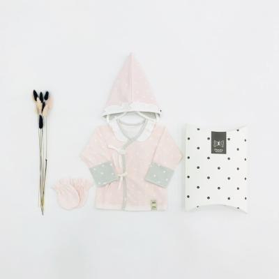 몽글몽글 출산선물세트(저고리+모자+손싸개)_사계절용