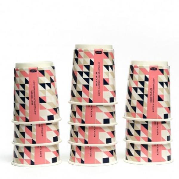 파스텔 패턴 이중 종이컵 10개
