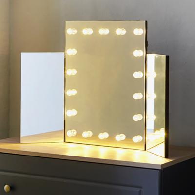 [베스트리빙]탁상용 3단 조명 LED거울(GML3-1-B)