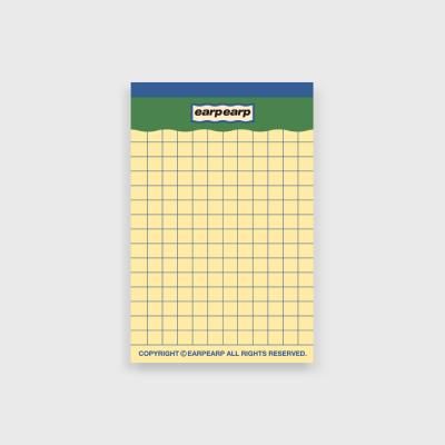 signature yellow point memo pad-green(떡메모지)