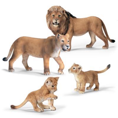 사자 가족 세트 4pcs