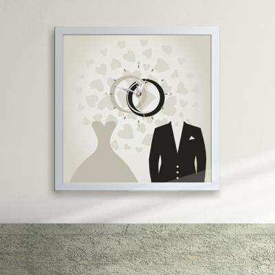 cw012-사랑,영원의 서약 액자벽시계_디자인액자시계