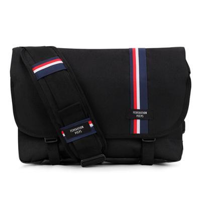 [핍스] 에센셜 메신저백(stripe black)