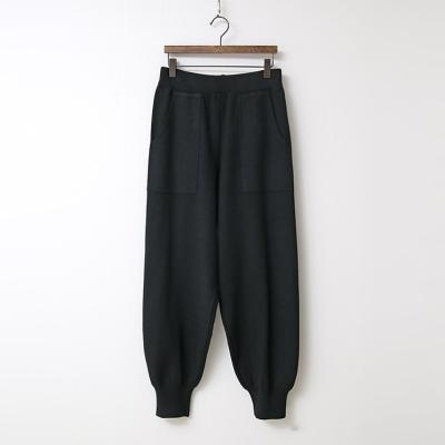 Wool Knit Jogger Pants