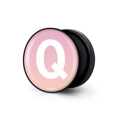 샤론6 블랙 원형 그립톡 이니셜 Q